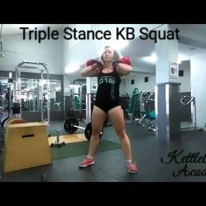 Triple Stance (Kettlebell) Squat