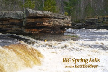 big spring falls on the Kettle river