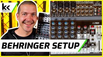 Behringer Xenyx Q1202 USB Audio Mixing Console Setup