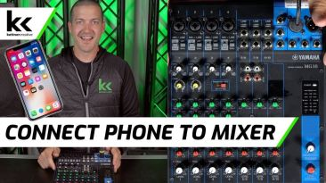 How To Connect Phone To Audio Mixing Console To Play Music