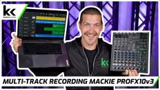 How To Multi Track Record Using Mackie ProFX10v3 USB Audio Mixing Console