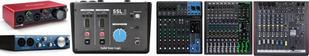 Audio Interface vs Audio Mixer
