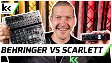 Behringer Xenyx Q1202 USB vs Focusrite Scarlett 2i2