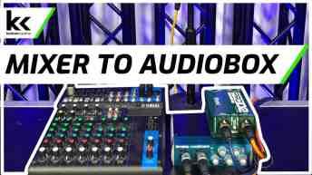 Connect Audio Mixer To PreSonus AudioBox 96 USB Audio Interface