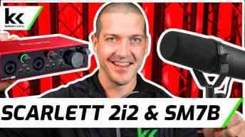 Focusrite Scarlett 2i2 and Shure SM7B | Setup and Demo