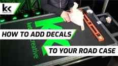 How To Add Vinyl Decal Logo To Road Case | Flight Case Branding
