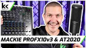 Mackie ProFx10v3 and AT2020