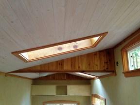 White wash pine ceiling.