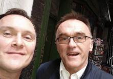 Met up with Director Danny Boyle buying chewing gum in Dean St, Soho. And he gave me a chewing gum!