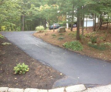 fall planting walkway before