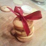 Karácsonyi gomb keksz
