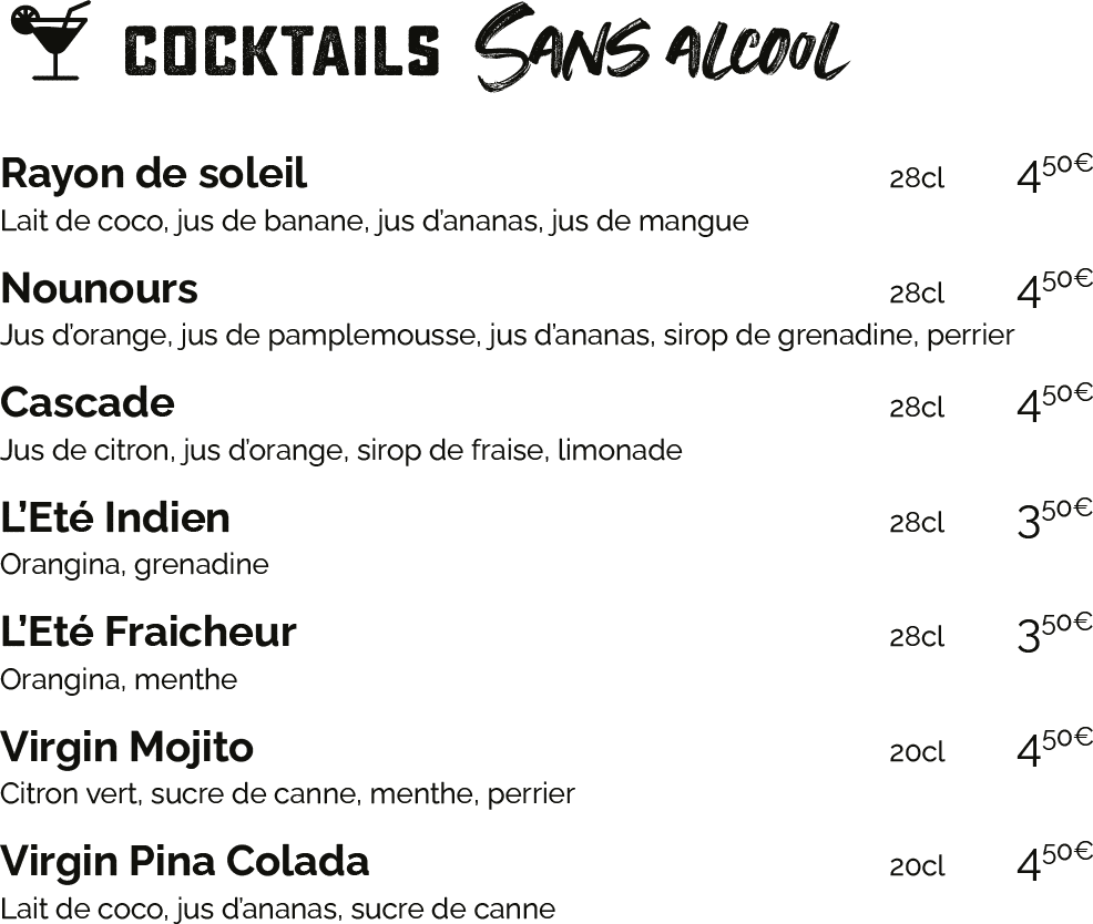 cocktail sans alcool