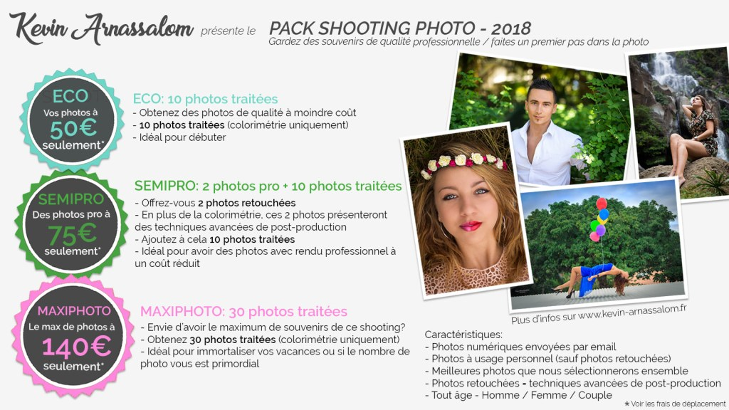 Offres de shooting photo à la Réunion