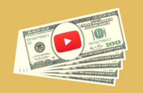 picture with money and youtube logo