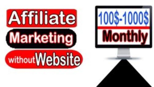 picture with words about affiliate marketing without a website