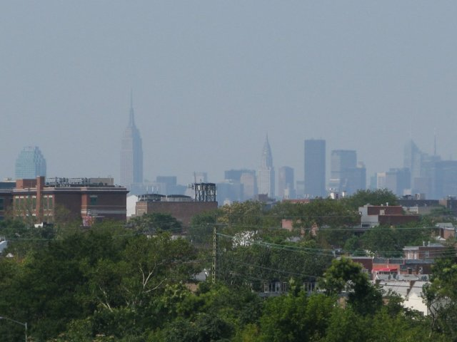 View of the New York CBD from atop the Artur Ashe Stadium