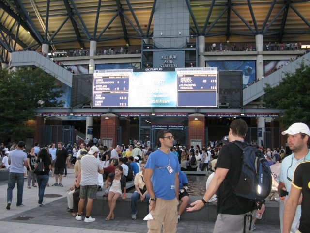 At The Entry to the Arthur Ashe Stadium