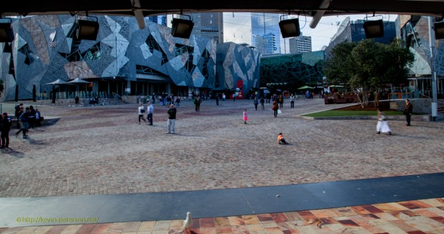 Federation Square - View from the Main Stage