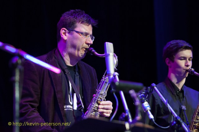 Rob Burke and Mirko Guerrini (saxophones)