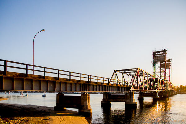 Batemans, Bay,Bridge over Clyde River at Sunset, Batemans Bay, NSW, Australia.