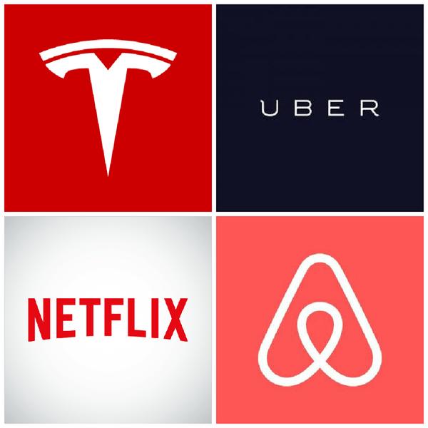 les NATU : Netflix, Airbnb, Tesla, Uber