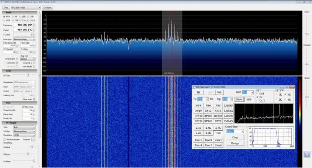 SDRSharp avec filtrage audio