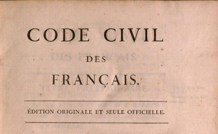 Code civil des Français (Paris: De l'Impr. de la République, 1804) | Yale Law Library, CC BY 2.0