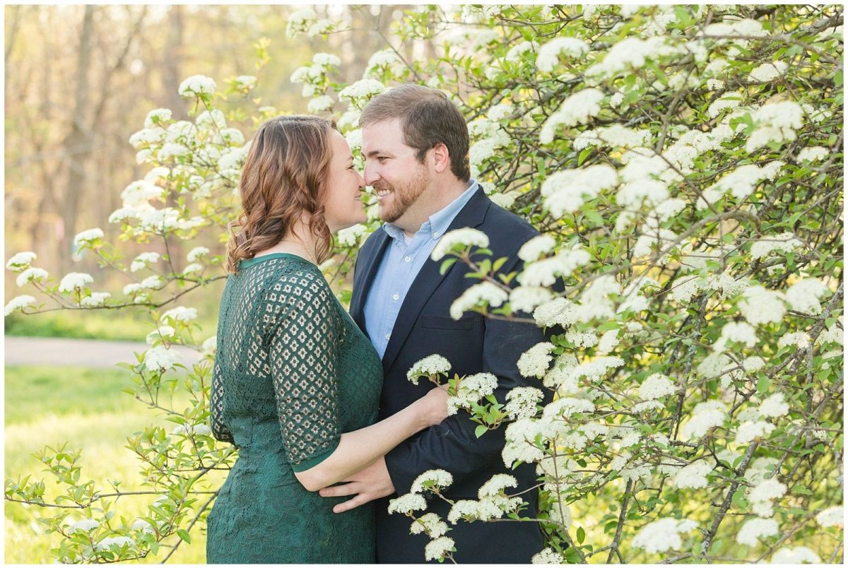 Spring engagement session at the Arboretum in Lexington, KY