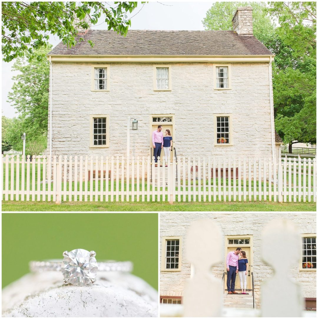Engagement Photos at Shaker Village in Harrodsburg, KY
