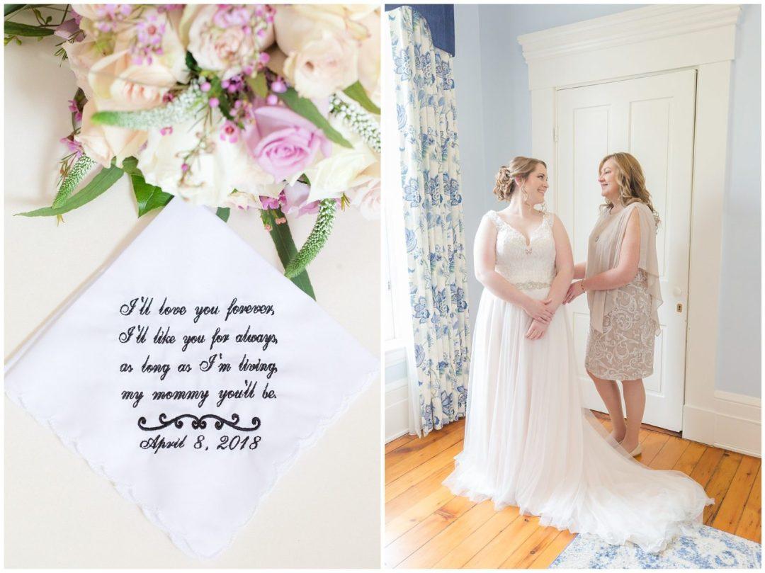 Bride and Mother Wedding Photos at Ashford Acres Inn in Cynthiana, Kentucky.