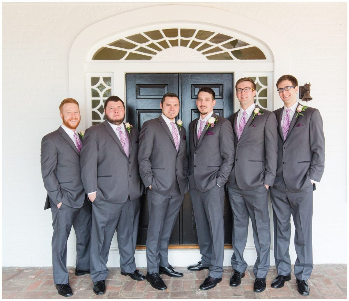 Groom and Groomsmen Wedding Photos at Ashford Acres Inn in Cynthiana, Kentucky.