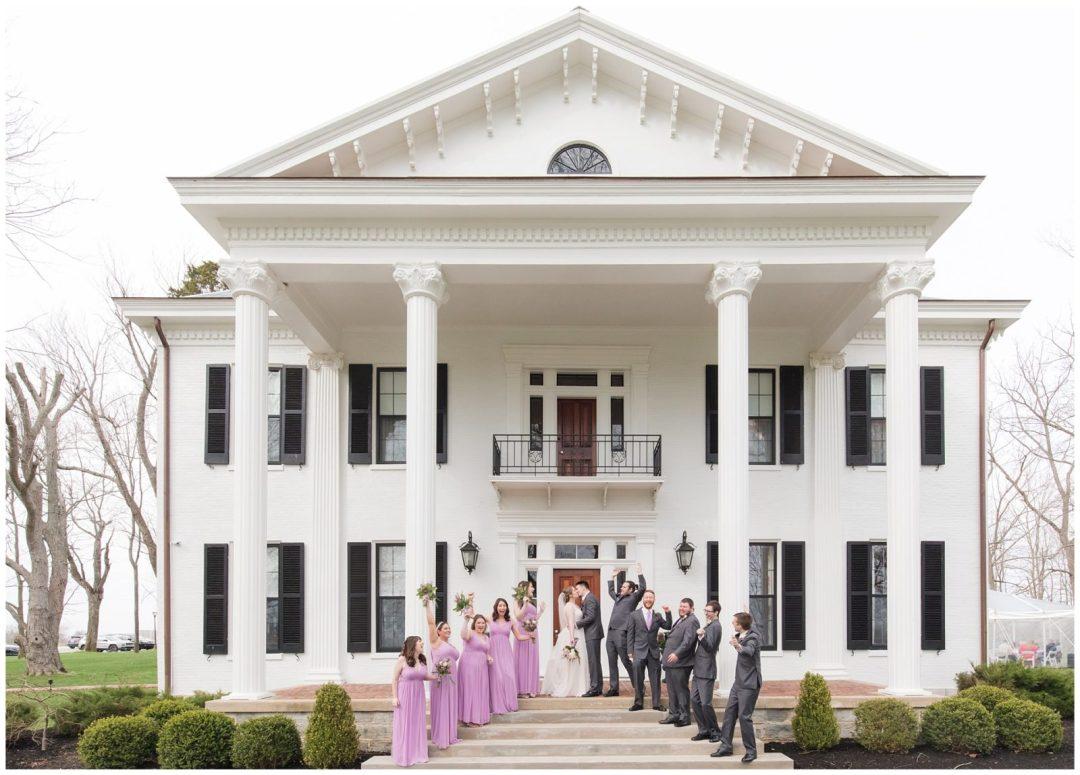 Bridal Party Wedding Photos at Ashford Acres Inn in Cynthiana, Kentucky.