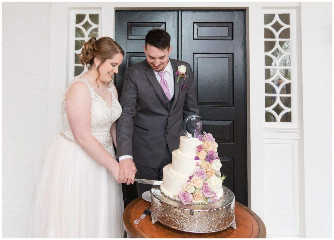 Wedding Reception Cake Photos at Ashford Acres Inn in Cynthiana, Kentucky.