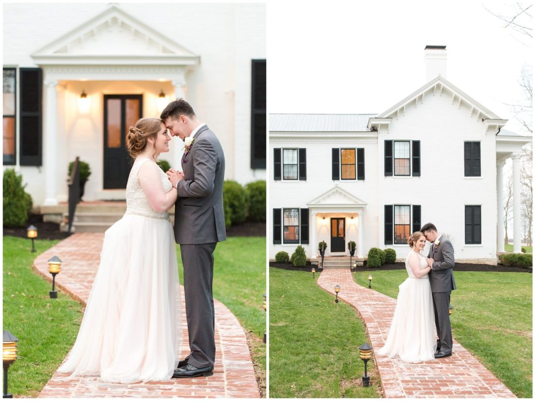Bride and Groom Photos at Ashford Acres Inn in Cynthiana, Kentucky.