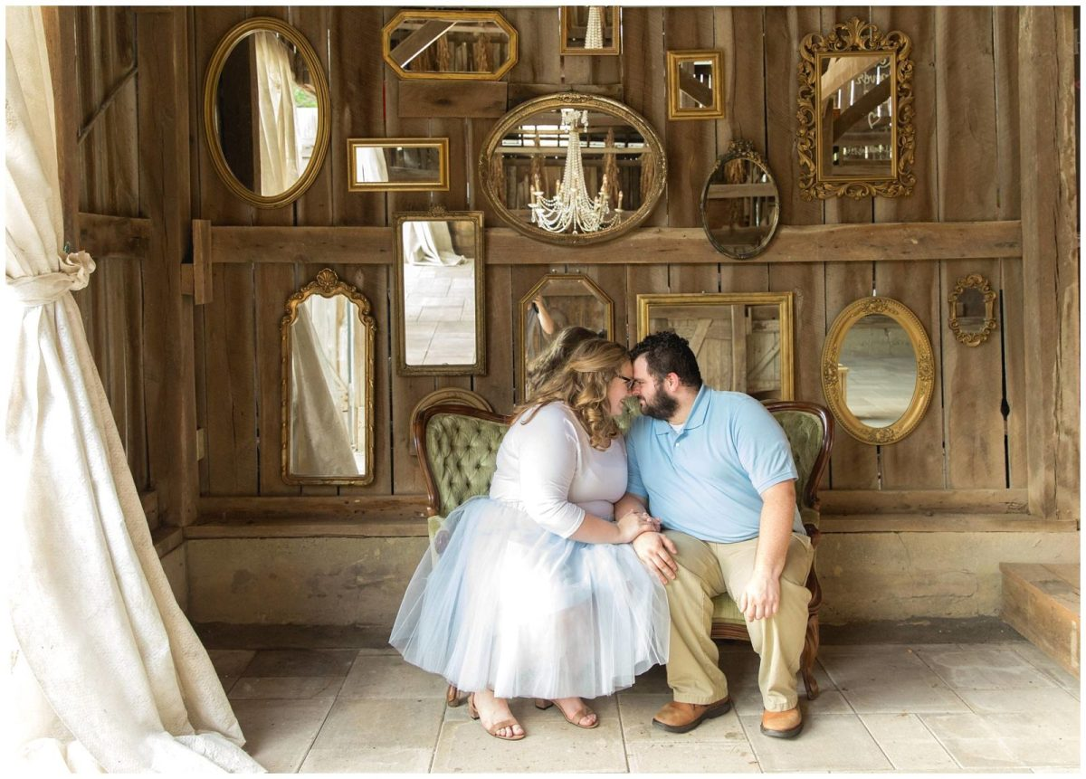 Summer Engagement Session at the Barn at Springhouse Gardens in ...