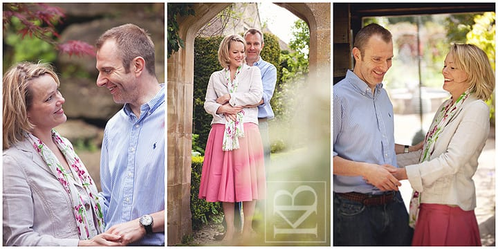 Engagement photography at Abbey House Gardens, Malmesbury, Wiltshire