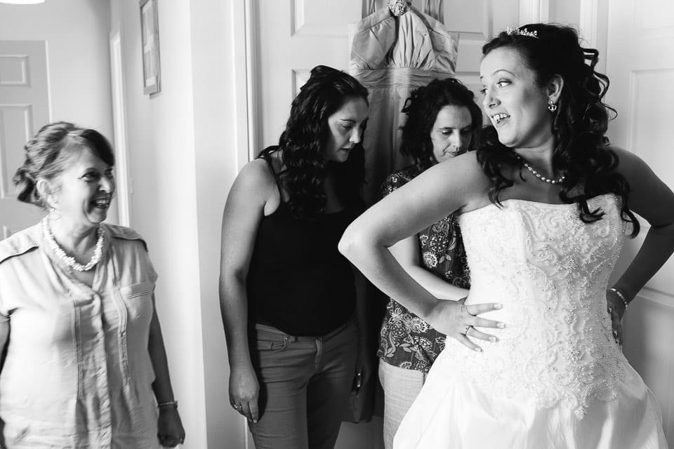 Bowood Bride getting ready