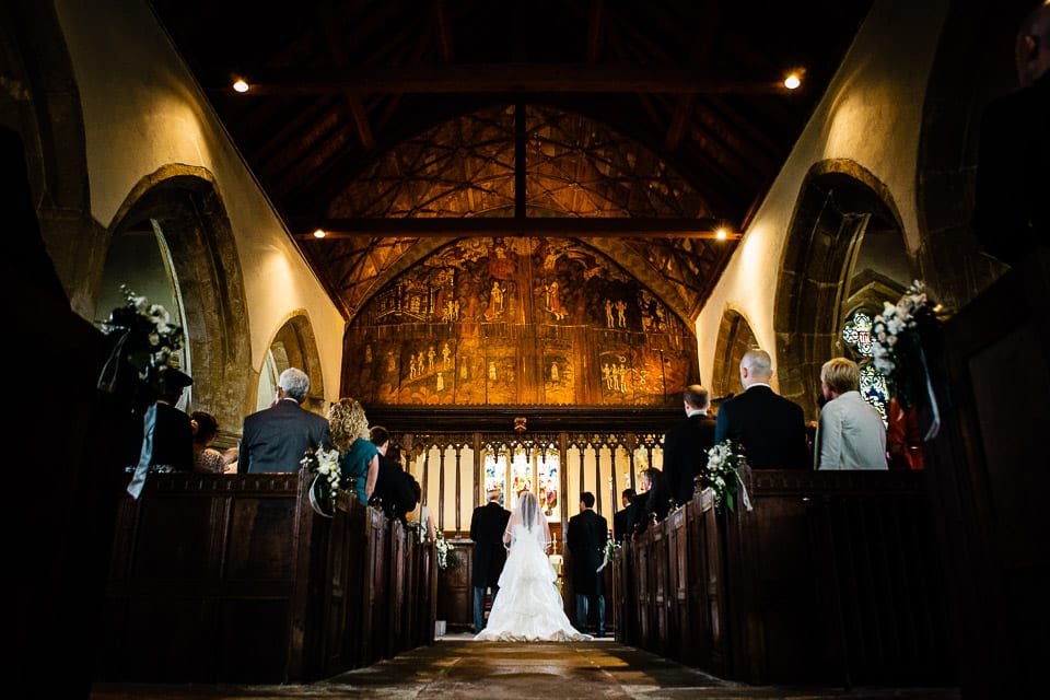 Wedding in St James the Great Church, Dauntsey, Wiltshire