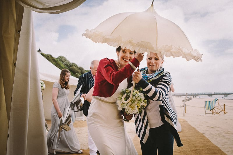 windy wedding on bournemouth beach venue
