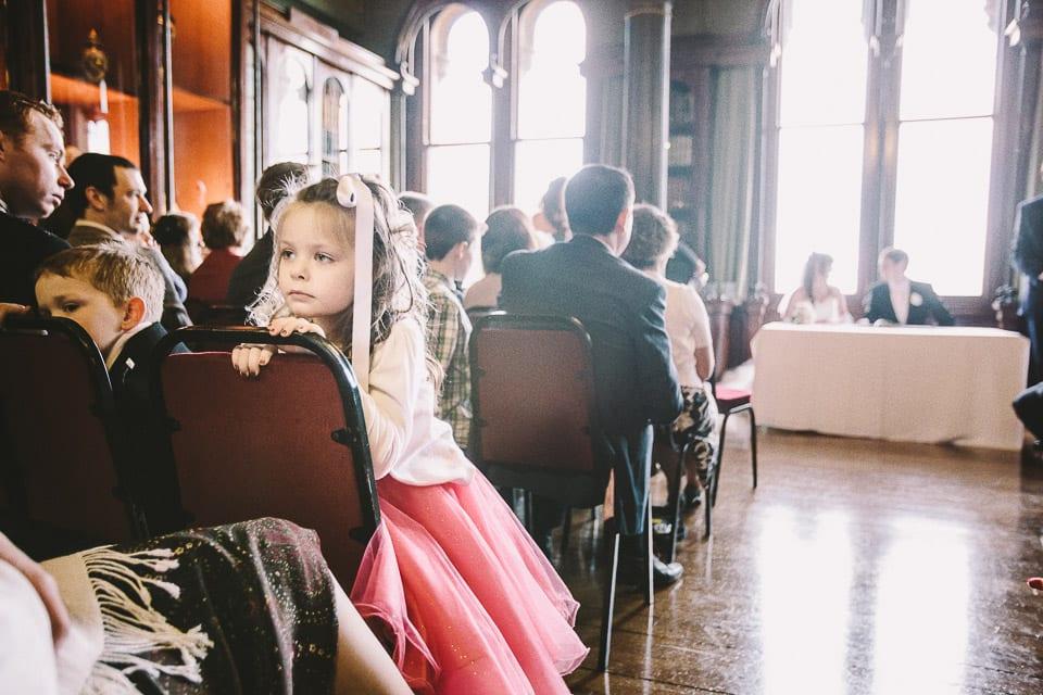 Wedding ceremony at Grittleton House