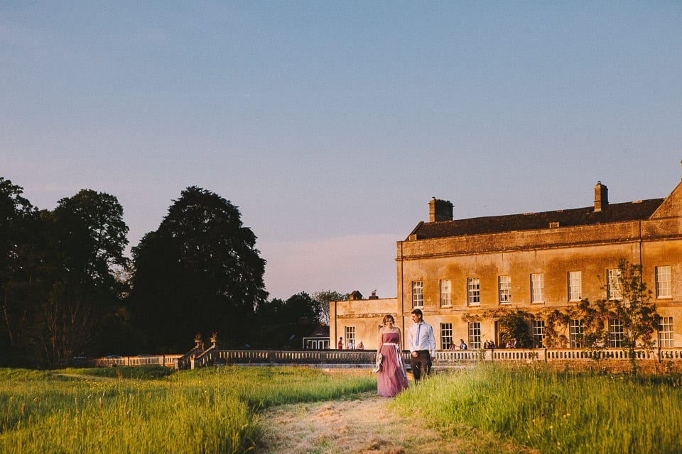 bridesmaid and boyfriend at Dauntsey Park House