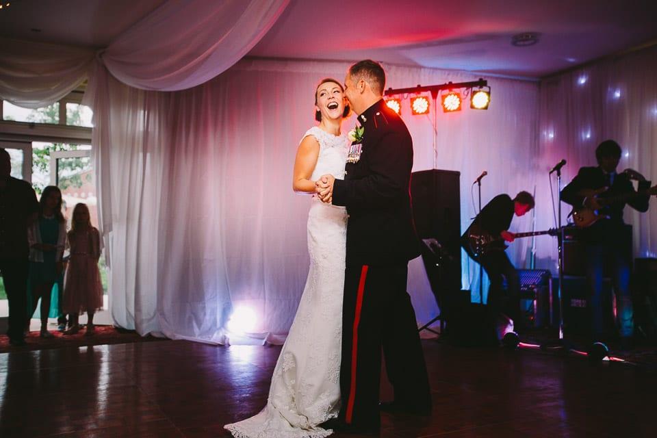 Military wedding first dance