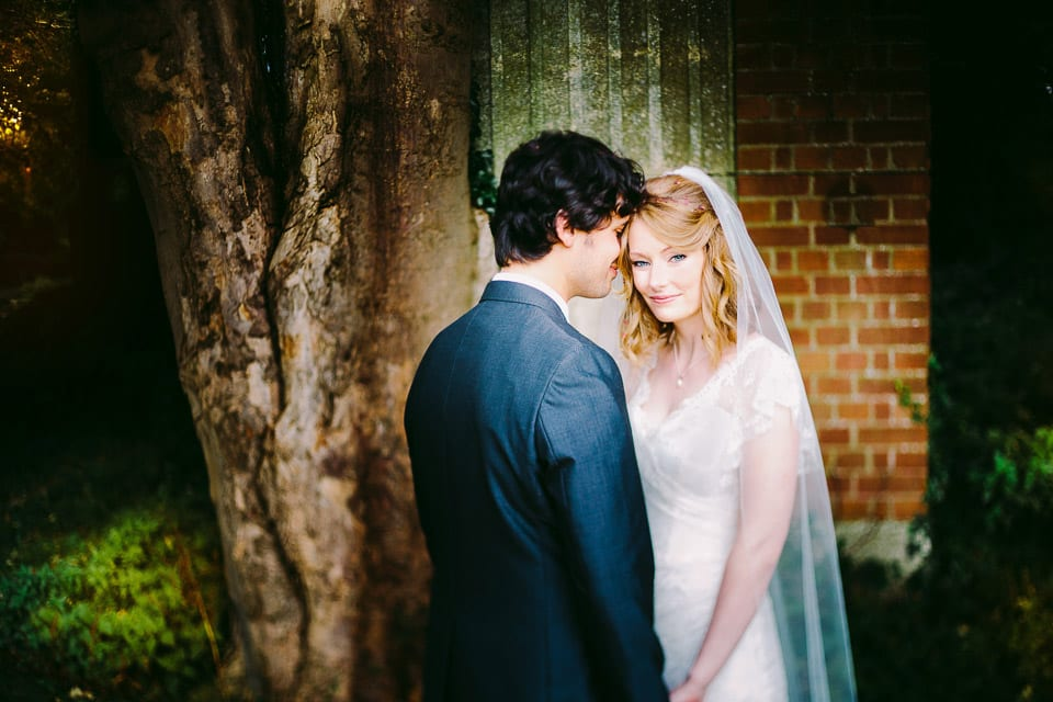 bride and groom at kings weston house