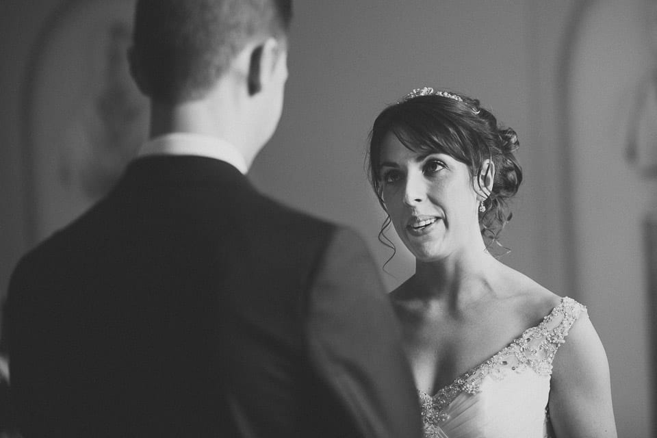 Wedding ceremony in the Kerry Suite at Bowood Golf and Country Club, Calne.