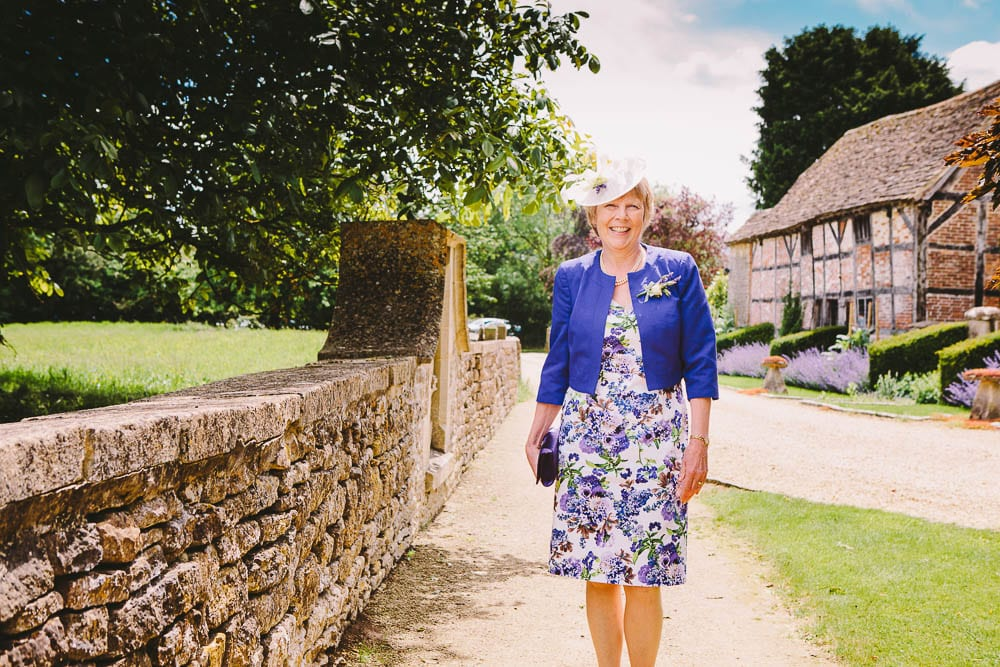Mother of the Bride outside Great Somerford Church
