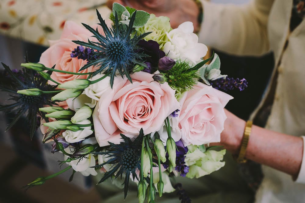 Close up of the brides bouquet