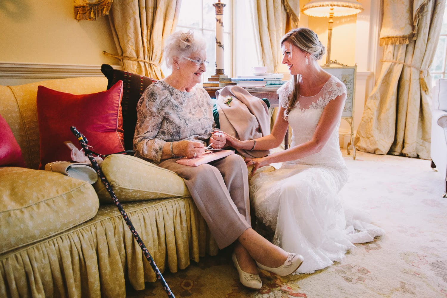 A bride with her grandmother