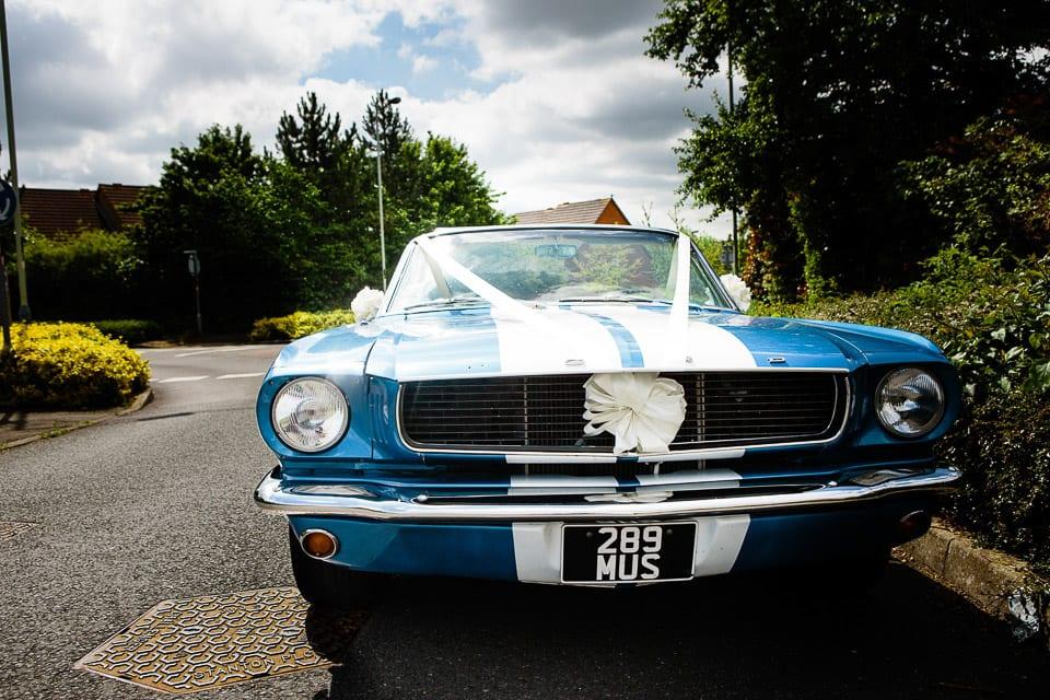 Ford Mustang wedding car