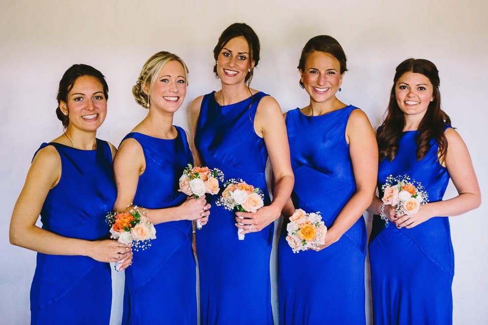 Beautiful bridesmaids in lounge