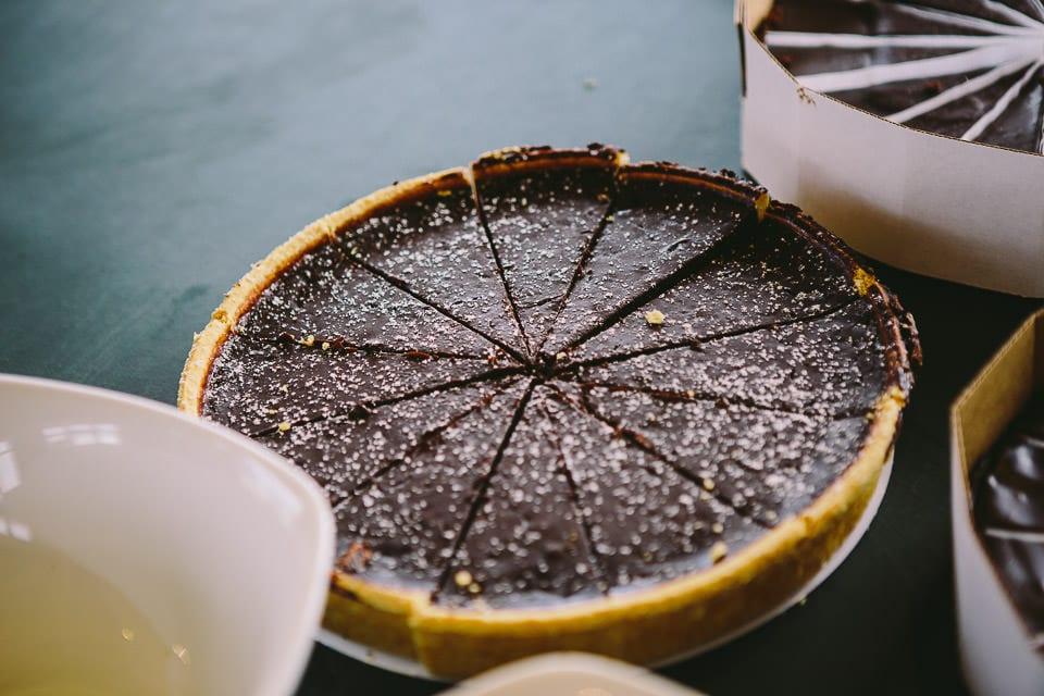 Chocolate tarte for dessert